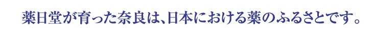 薬日堂が育った奈良は、日本における薬のふるさとです。